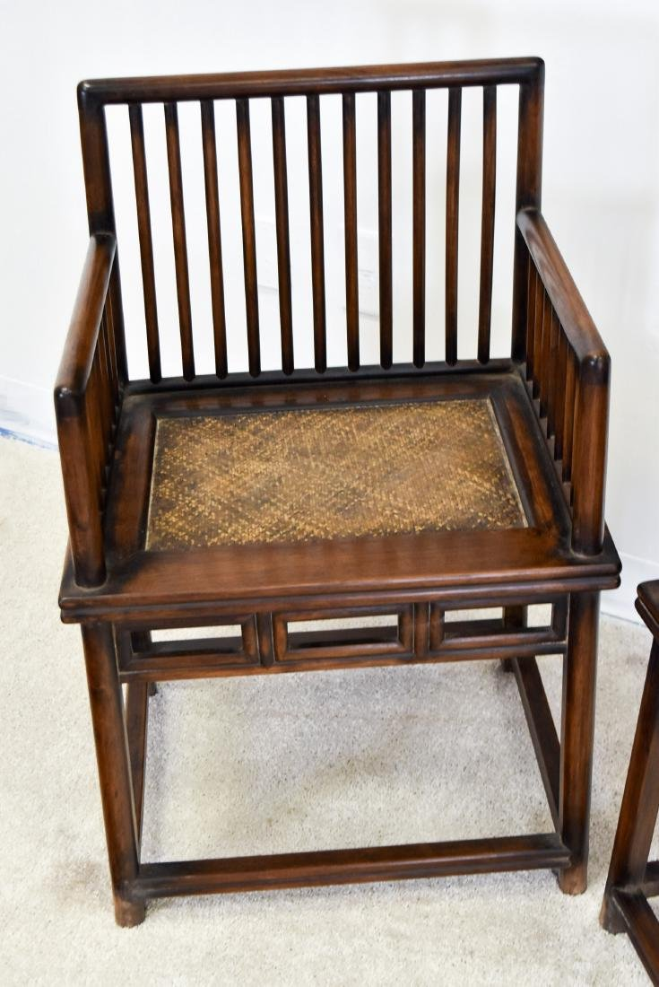 18/19TH C. PAIR OF HUANGHUALI ROSE ARMCHAIRS, MEIGUI YI - 2