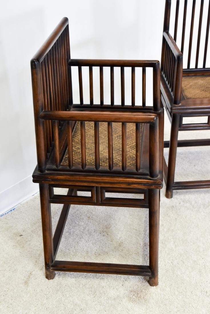 18/19TH C. PAIR OF HUANGHUALI ROSE ARMCHAIRS, MEIGUI YI - 9