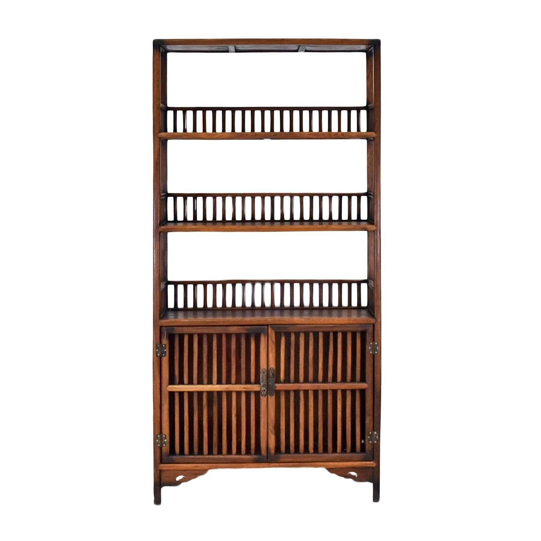 19TH C CHINESE HUANGHUALI BOOK CASE