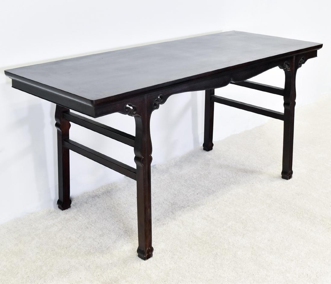19TH C FINE ZITAN ALTAR TABLE, DIAO'AN - 3