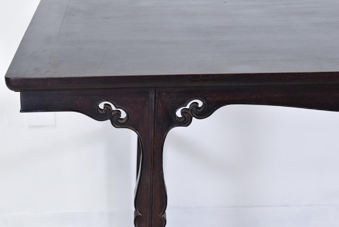 19TH C FINE ZITAN ALTAR TABLE, DIAO'AN - 4