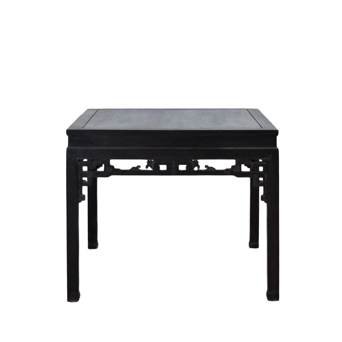 A ZITAN WAISTED SQUARE CORNER-LEG TABLE, FANGZHUO