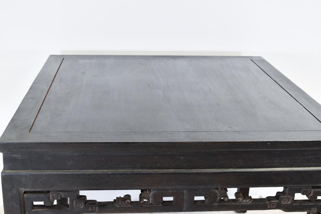 A ZITAN WAISTED SQUARE CORNER-LEG TABLE, FANGZHUO - 2