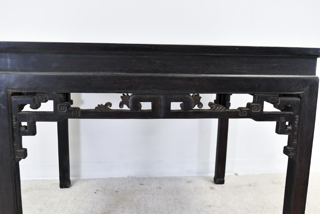 A ZITAN WAISTED SQUARE CORNER-LEG TABLE, FANGZHUO - 3