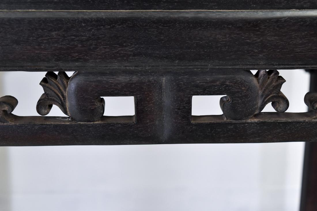 A ZITAN WAISTED SQUARE CORNER-LEG TABLE, FANGZHUO - 4