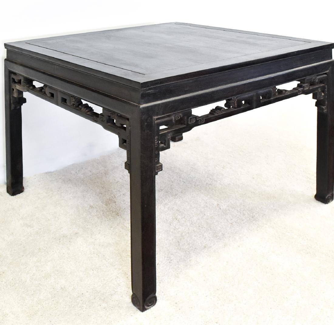 A ZITAN WAISTED SQUARE CORNER-LEG TABLE, FANGZHUO - 7
