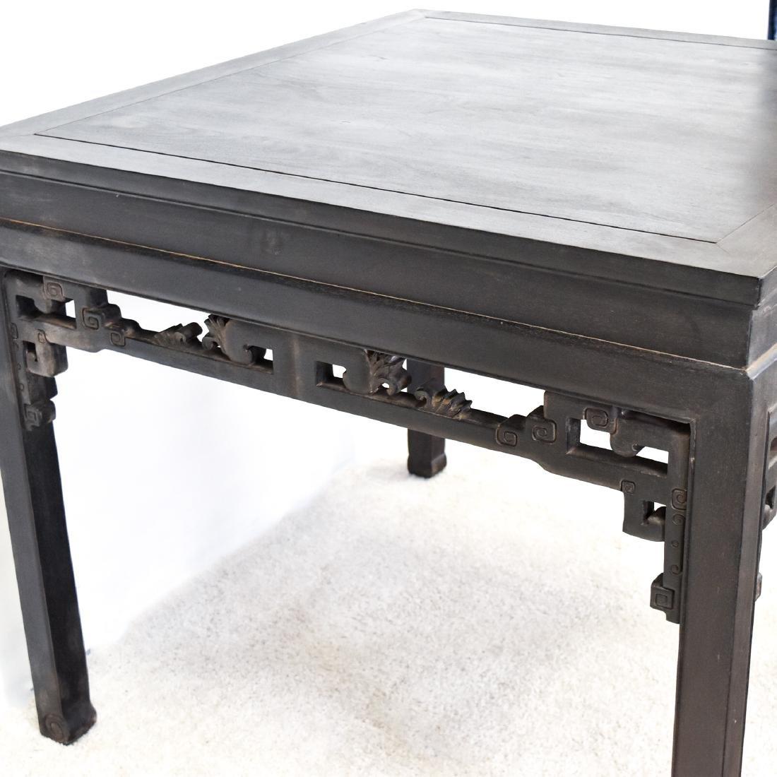 A ZITAN WAISTED SQUARE CORNER-LEG TABLE, FANGZHUO - 8
