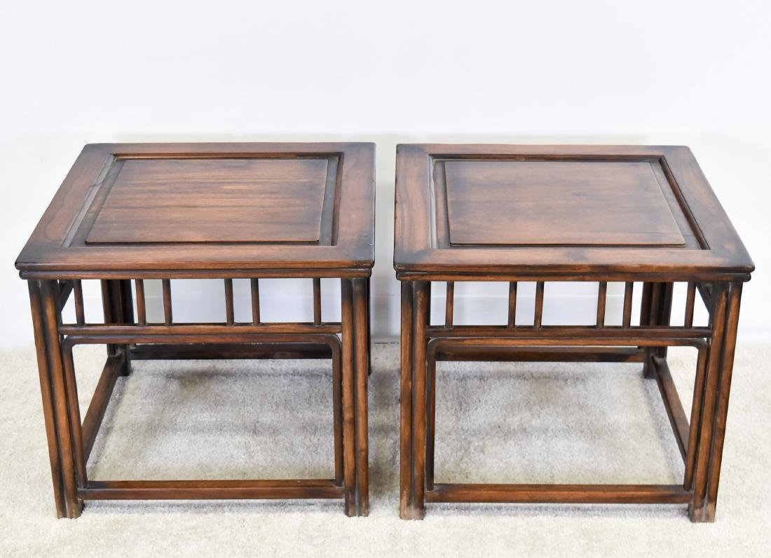 19TH C PAIR OF HUANGHUALI SQUARE STANDS - 4