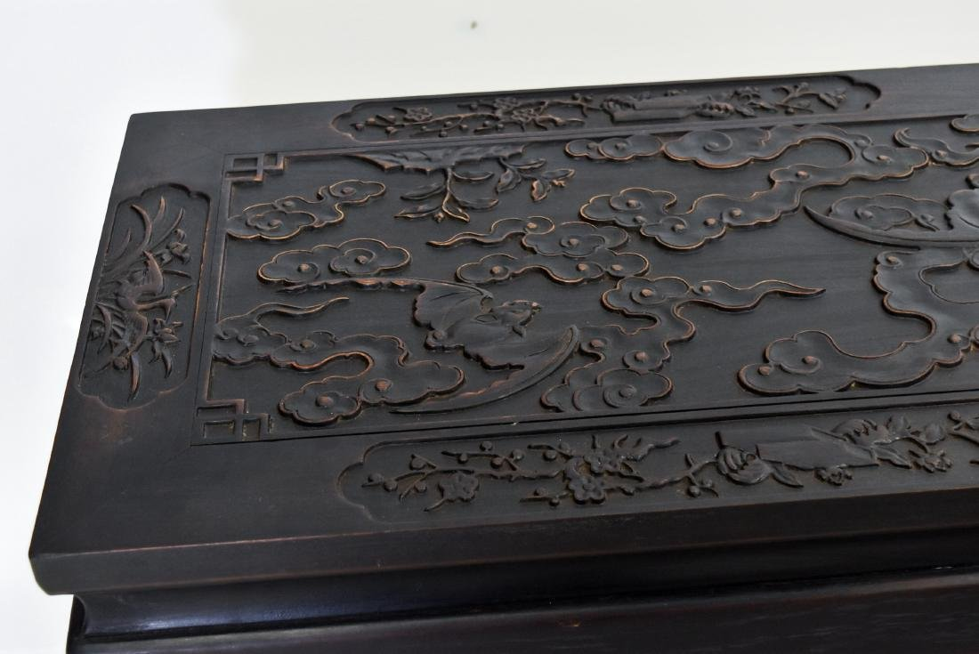 19TH C CHINESE ZITAN ALTAR TABLE IN FU BAT MOTIF - 5