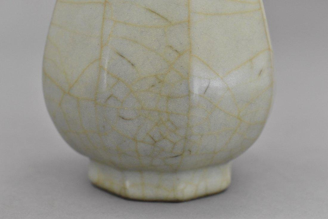 A CHINESE GUAN WARE BOTTLE VASE - 6