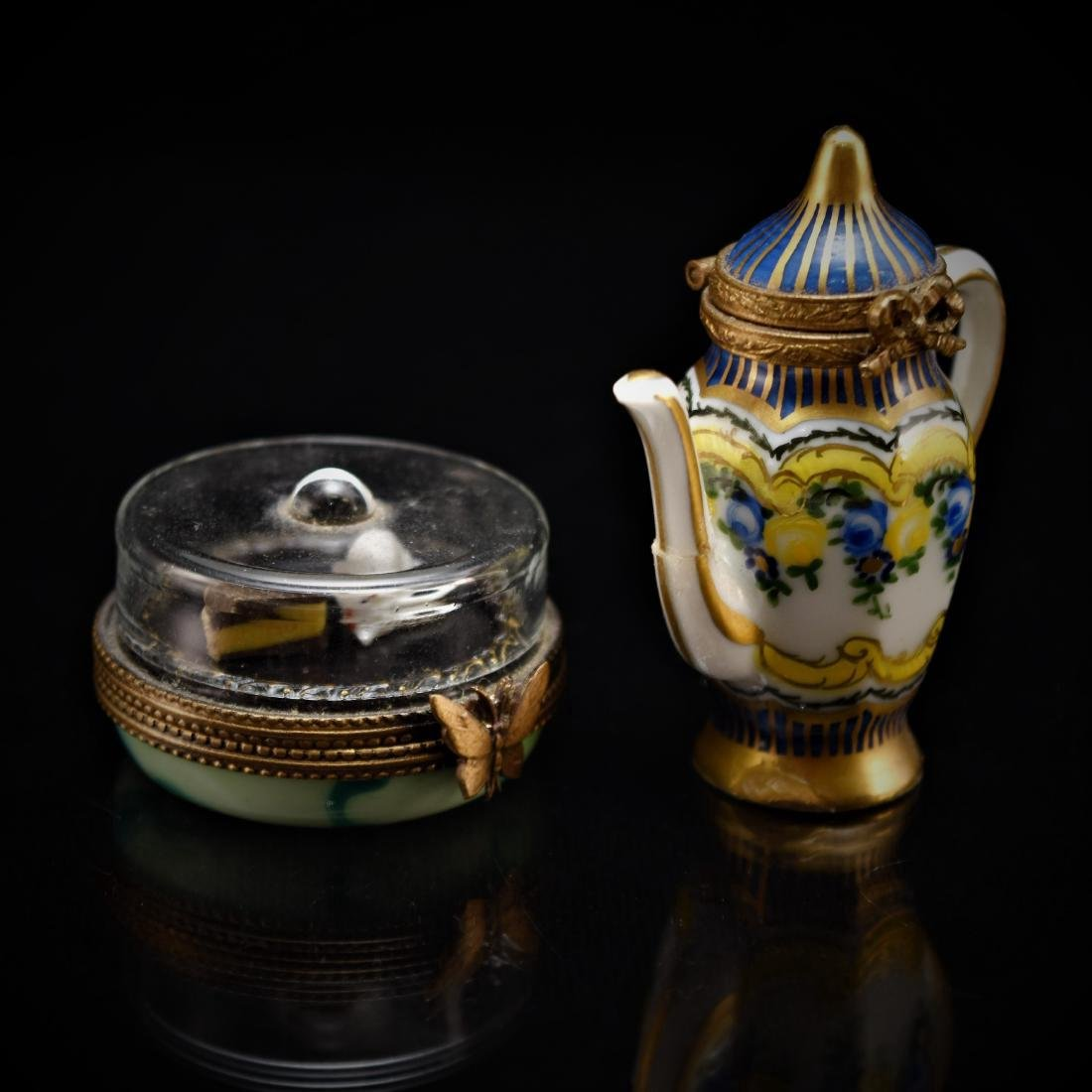 PAIR OF LIMOGES