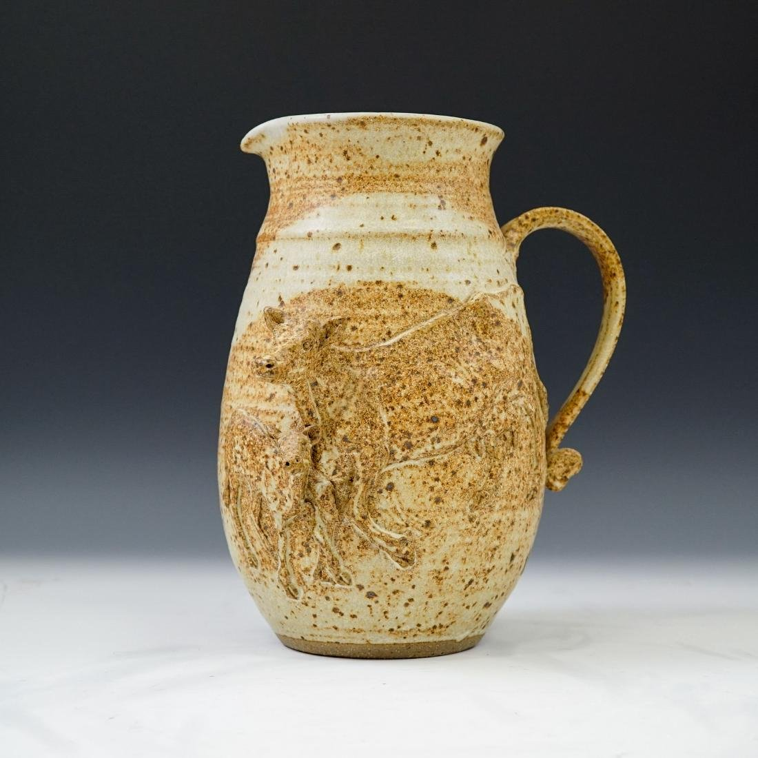 AMY ROMANIC, COW POTTERY JUG,  1981