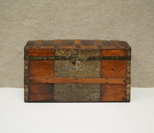 Domed Steamer Trunk  Salesman Sample