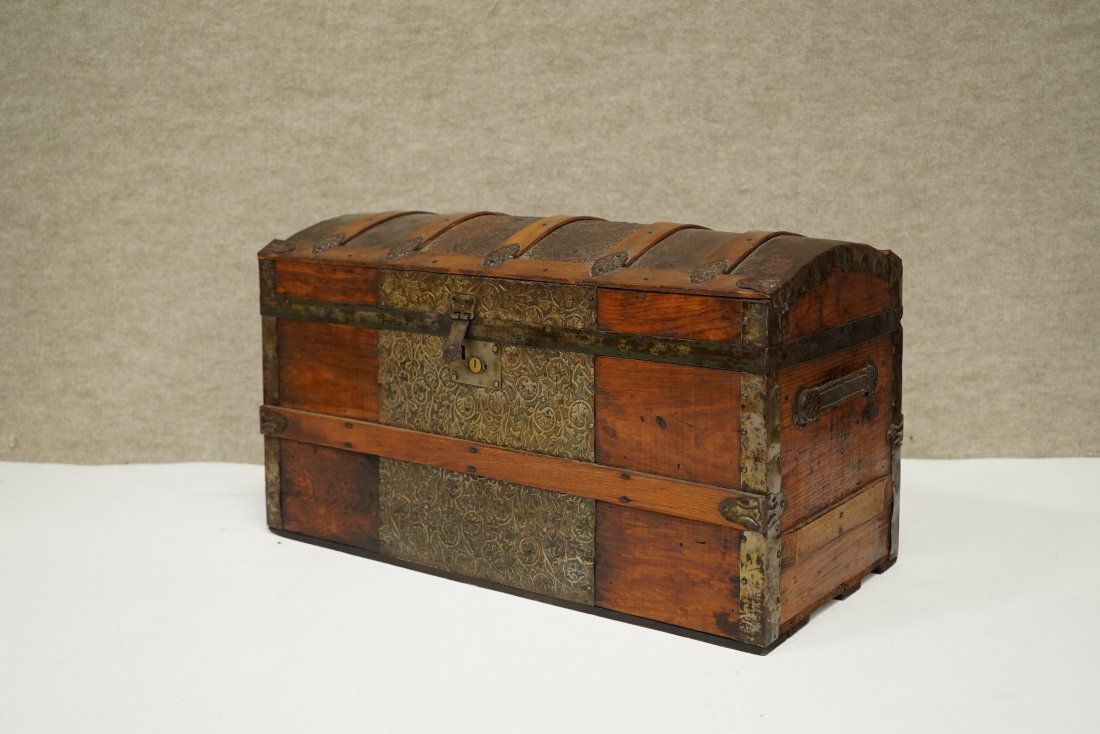 Domed Steamer Trunk  Salesman Sample - 2