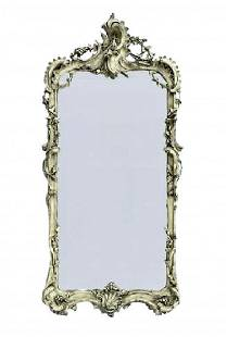 CONTINENTAL ROCOCO PAINTDECORATED PIER MIRROR