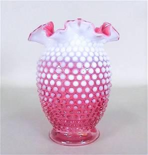 PINK HOBNOB FENTON GLASS
