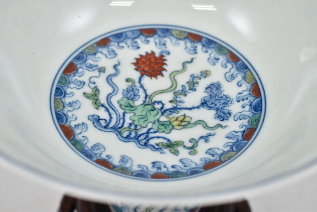 MING DOUCAI HIGH STEM BOWL IN PROTECTIVE BOX - 6