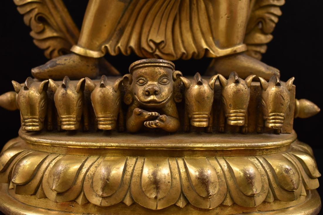 QIANLONG LARGE GILT BRONZE MARICHI BUDDHA - 10