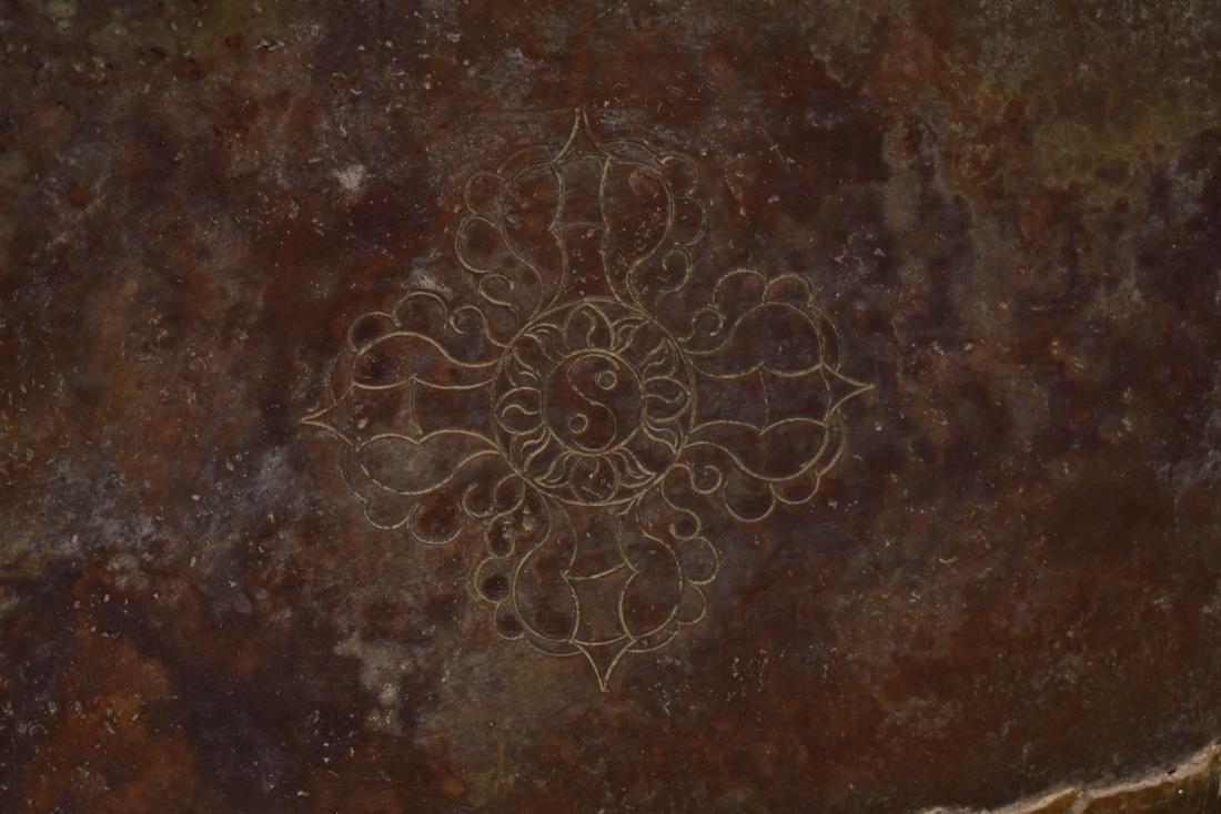 QIANLONG LARGE GILT BRONZE MARICHI BUDDHA - 15