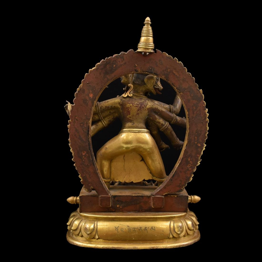 QIANLONG LARGE GILT BRONZE MARICHI BUDDHA - 6