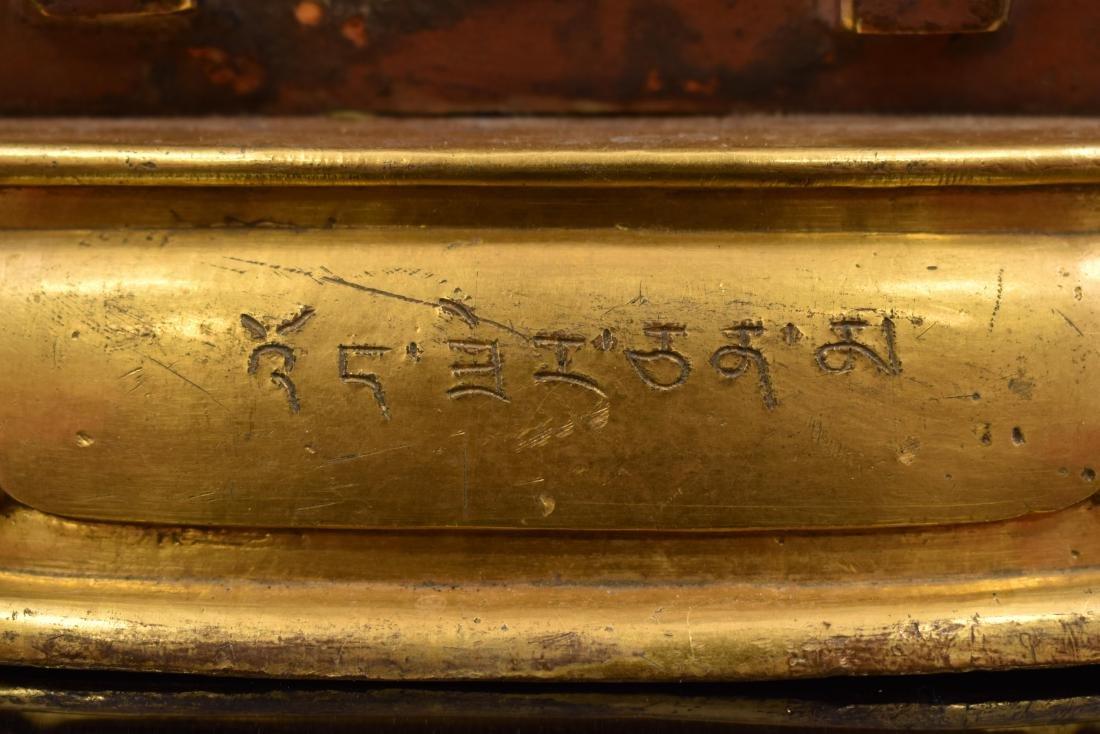 QIANLONG LARGE GILT BRONZE MARICHI BUDDHA - 7