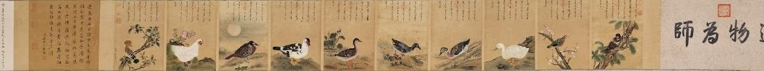 MANCHURIAN HAND LONG SCROLL PAINTING OF BIRDS - 2