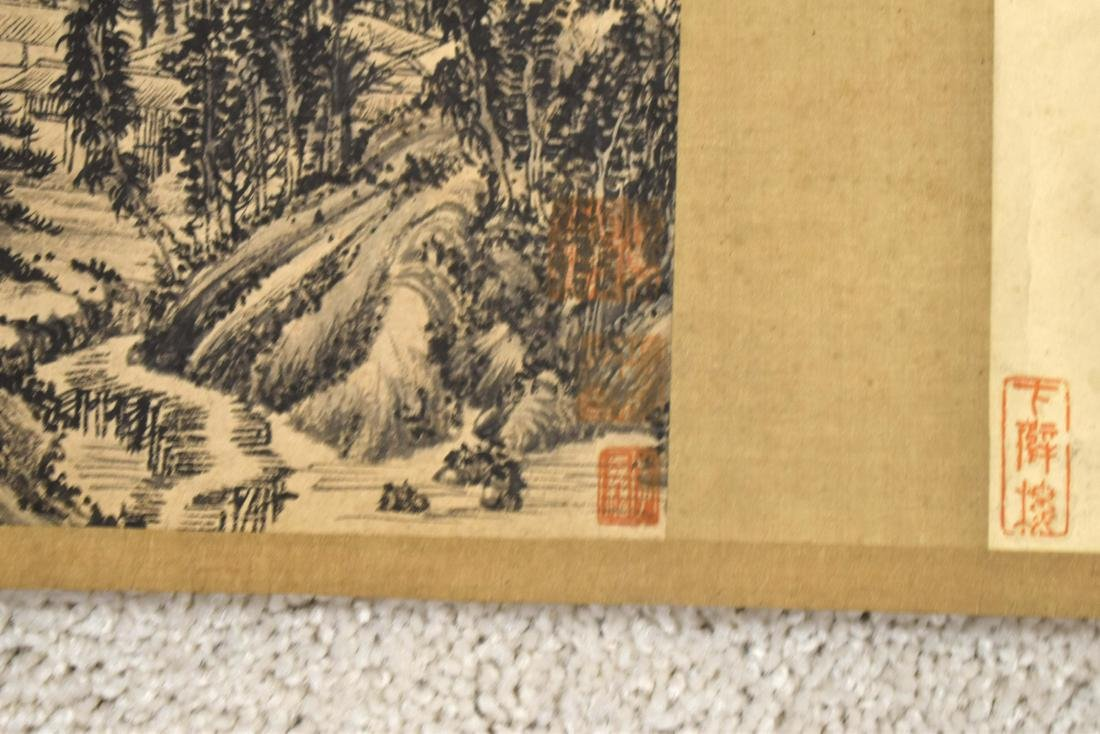 CHINESE LANDSCAPE LONG HAND SCROLL PAINTING - 9