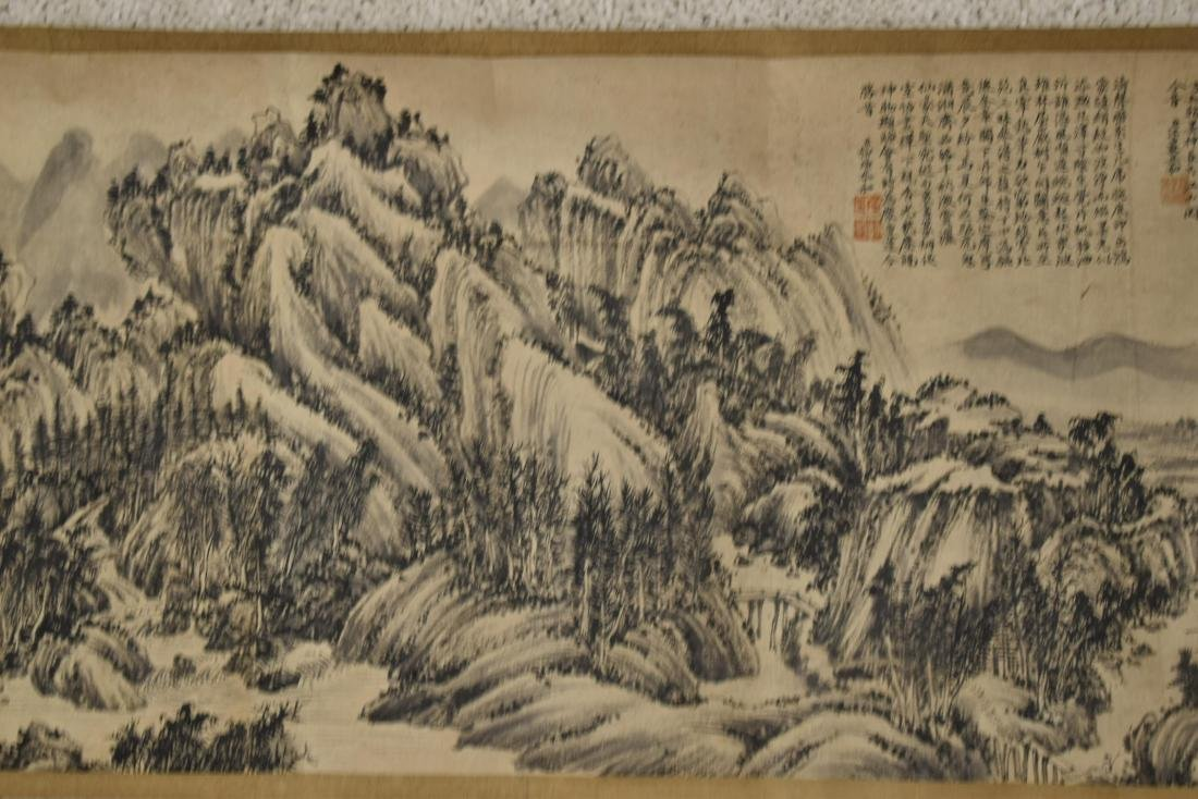 CHINESE LANDSCAPE LONG HAND SCROLL PAINTING - 6