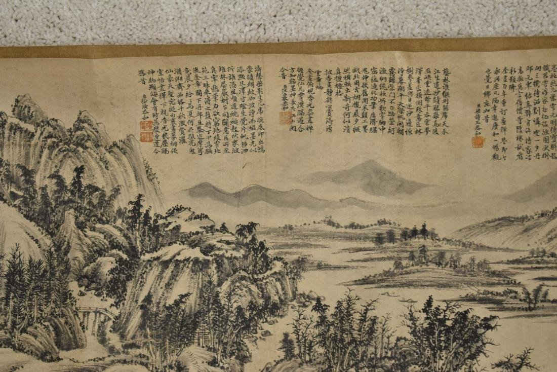 CHINESE LANDSCAPE LONG HAND SCROLL PAINTING - 7