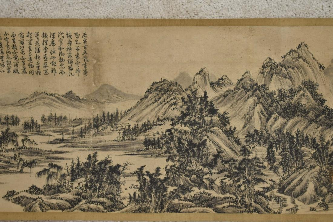 CHINESE LANDSCAPE LONG HAND SCROLL PAINTING - 8