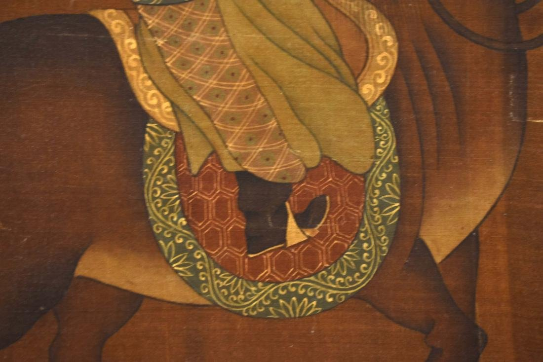 QING DYNASTY PAINTING OF HORSE RIDING WARRIOR - 11
