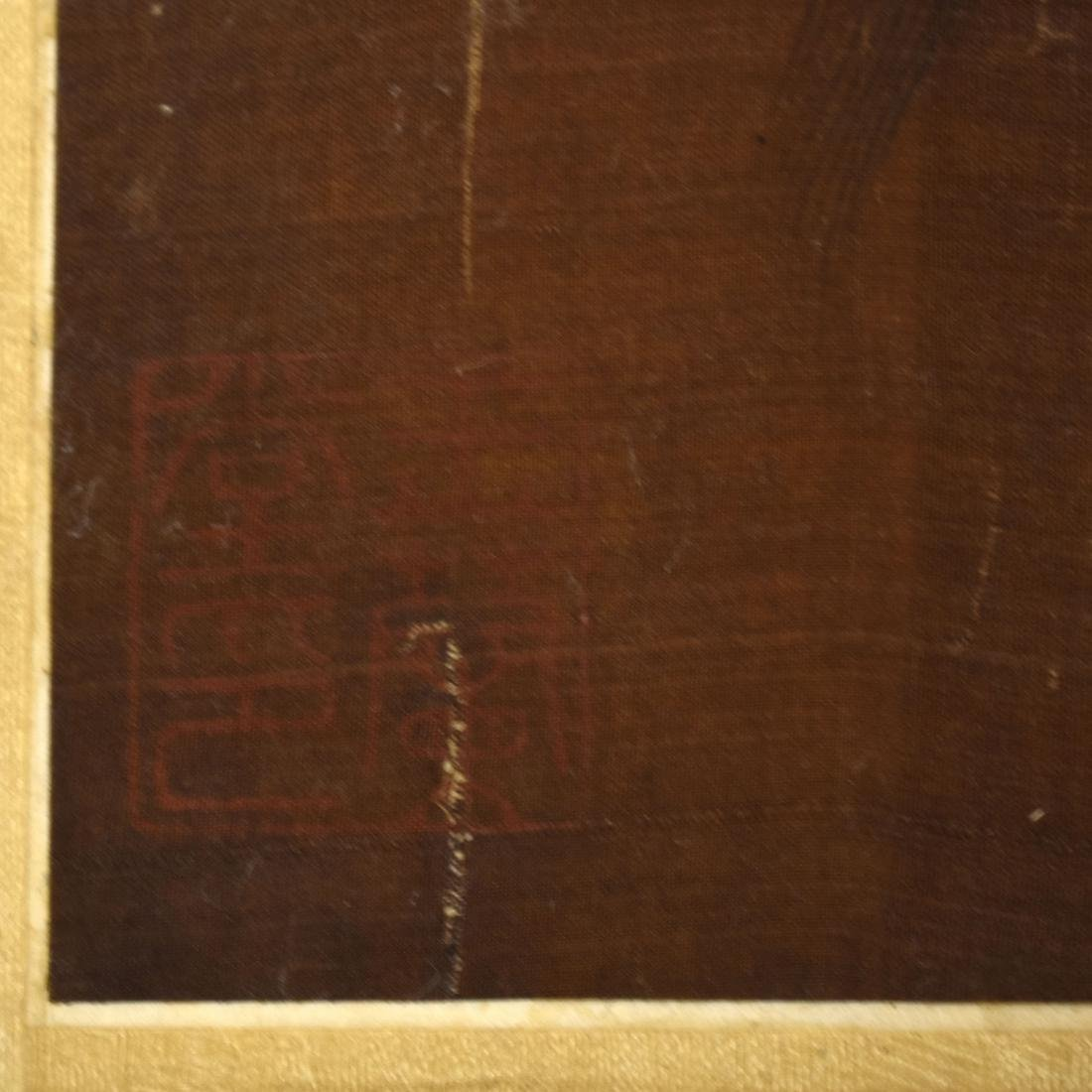 QING DYNASTY PAINTING OF HORSE RIDING WARRIOR - 9