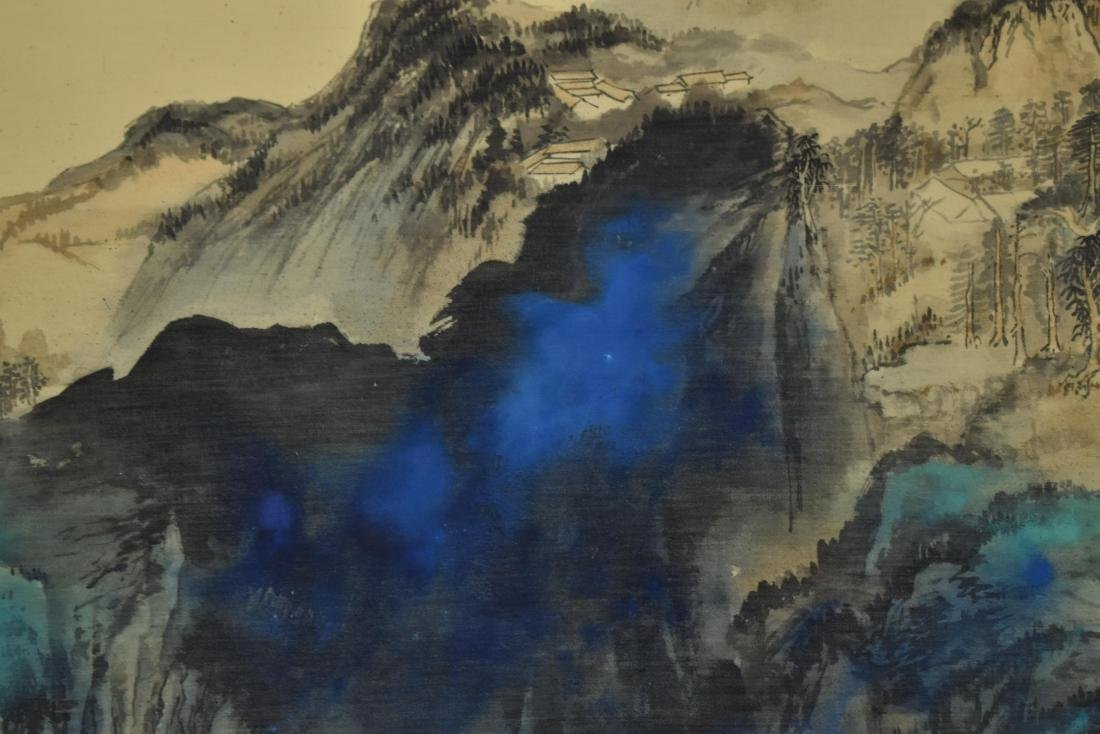 CHINESE PAINTING OF A VIBRANT MOUNTAIN RANGE - 5