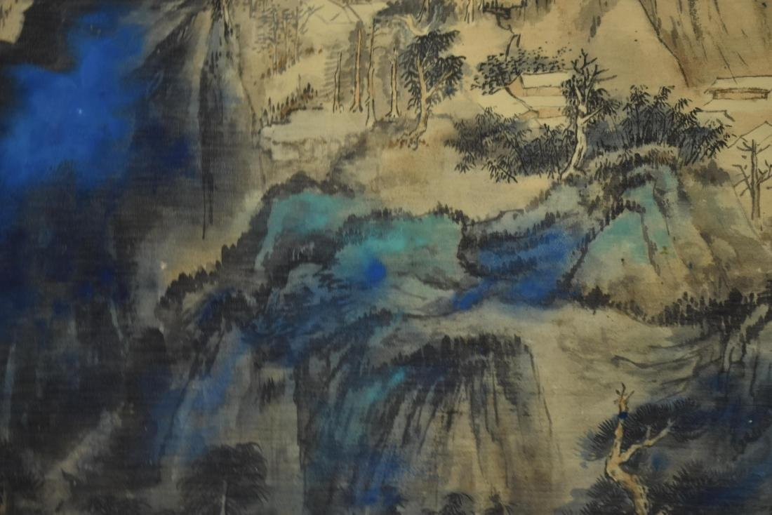 CHINESE PAINTING OF A VIBRANT MOUNTAIN RANGE - 6