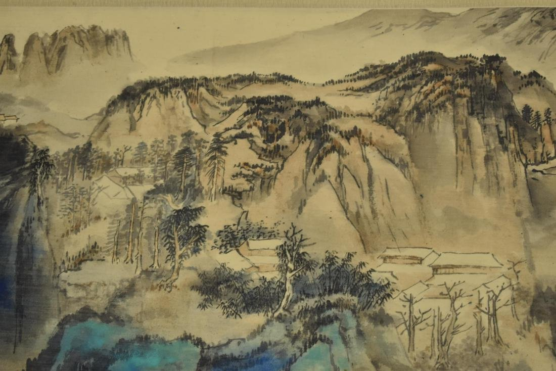CHINESE PAINTING OF A VIBRANT MOUNTAIN RANGE - 7