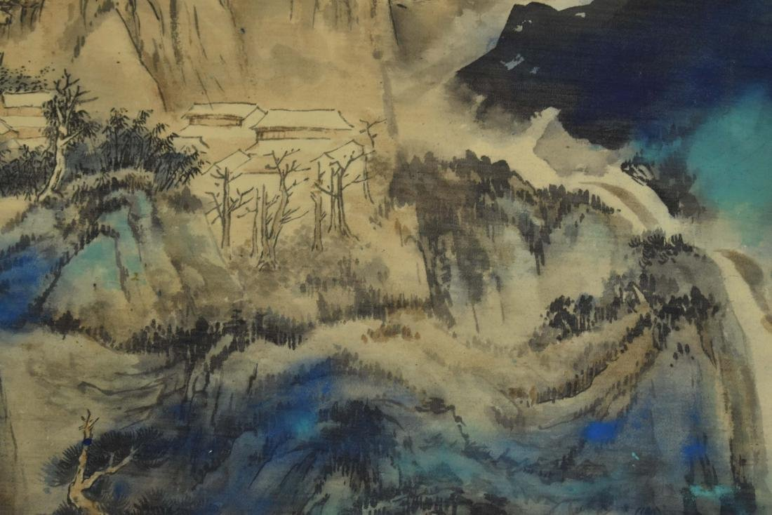 CHINESE PAINTING OF A VIBRANT MOUNTAIN RANGE - 8