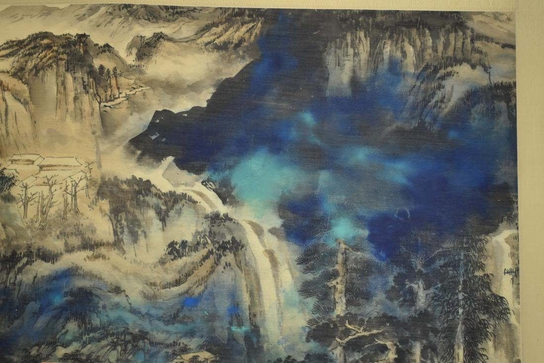 CHINESE PAINTING OF A VIBRANT MOUNTAIN RANGE - 9