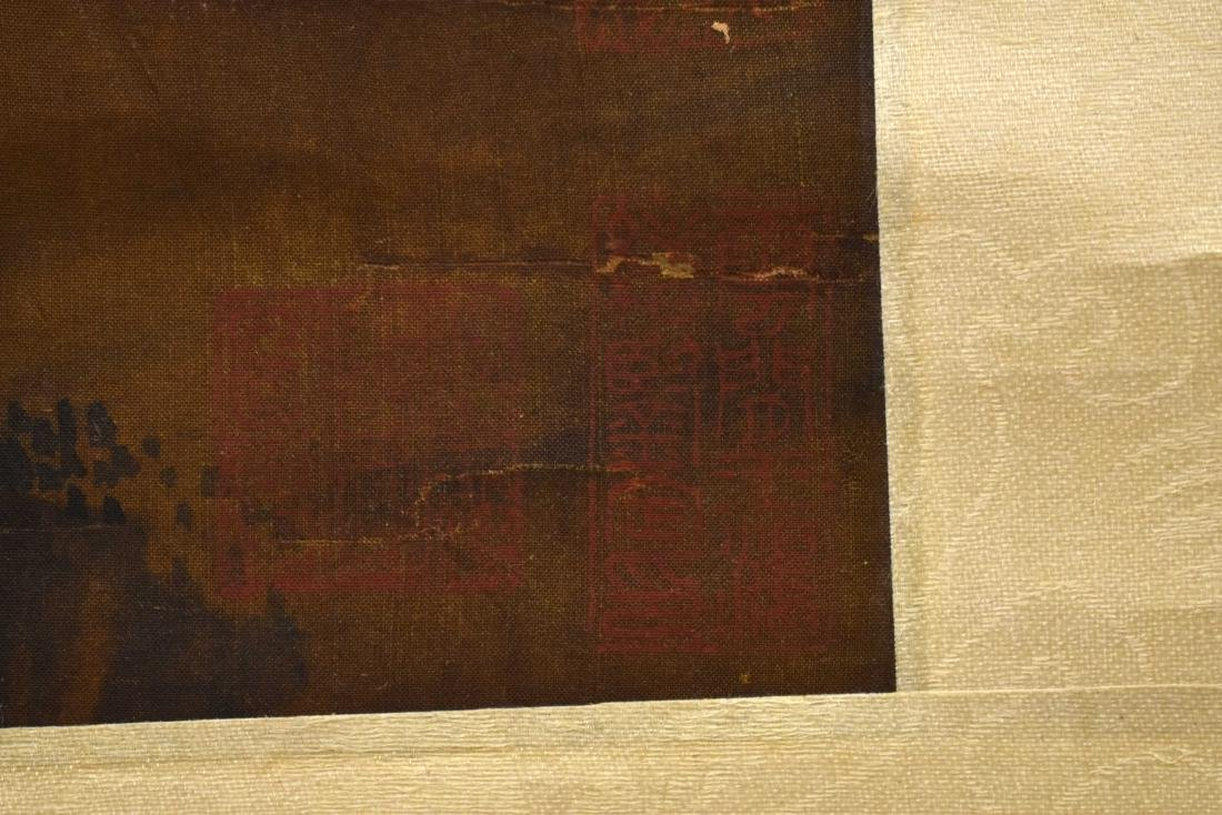 QING DYNASTY MOUNTAINOUS LANDSCAPE SCROLL PAINTING ON - 3