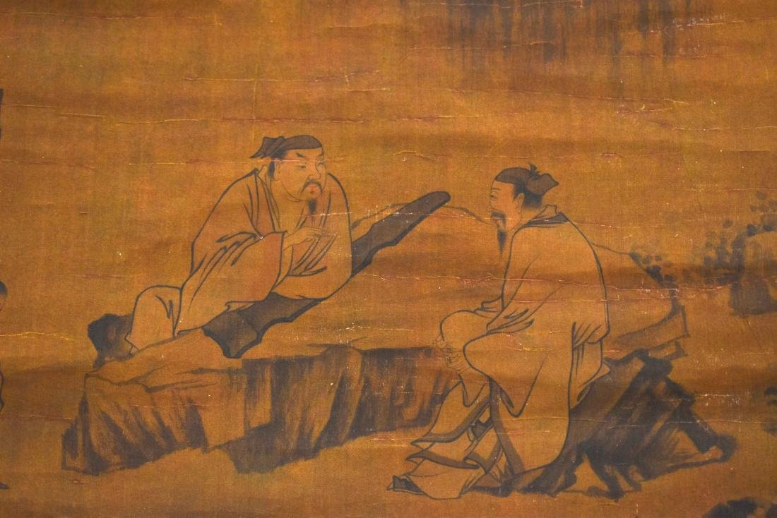 QING DYNASTY MOUNTAINOUS LANDSCAPE SCROLL PAINTING ON - 6