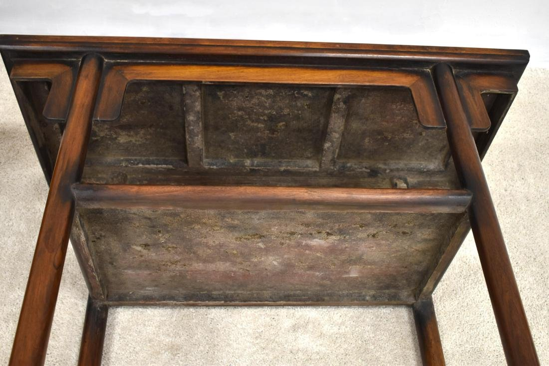 19TH C PAIR OF CHINESE HUANGHUALI TWO LEVEL ALTAR TABLE - 10