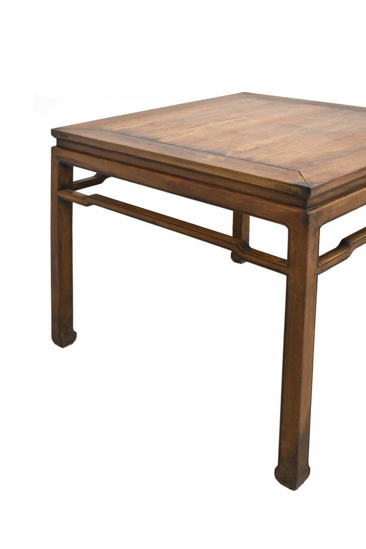 19TH C CHINESE HUANGHUALI SQUARE TABLE - 8