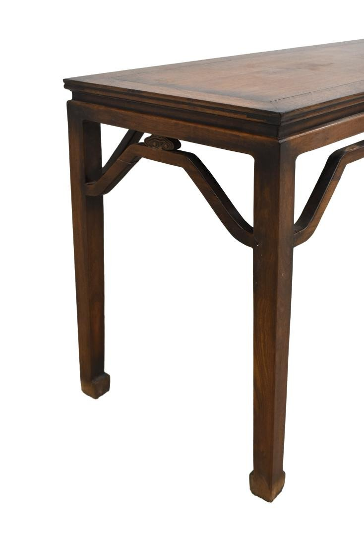 18TH C CHINESE HUANGHUALI WAISTED PAINTING TABLE - 3