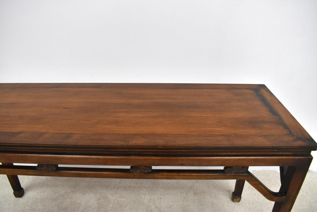 18TH C CHINESE HUANGHUALI WAISTED PAINTING TABLE - 4