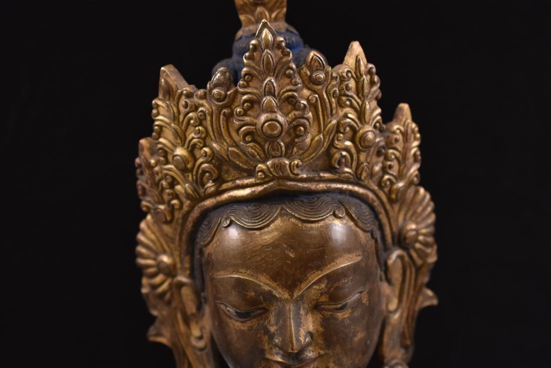 MING GILT BRONZE STANDING BUDDHA SHRISTHIKANTHA - 2