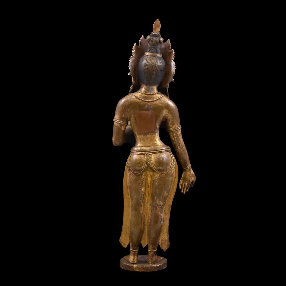 MING GILT BRONZE STANDING BUDDHA SHRISTHIKANTHA - 6