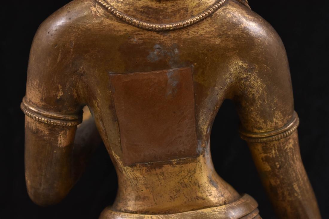 MING GILT BRONZE STANDING BUDDHA SHRISTHIKANTHA - 7