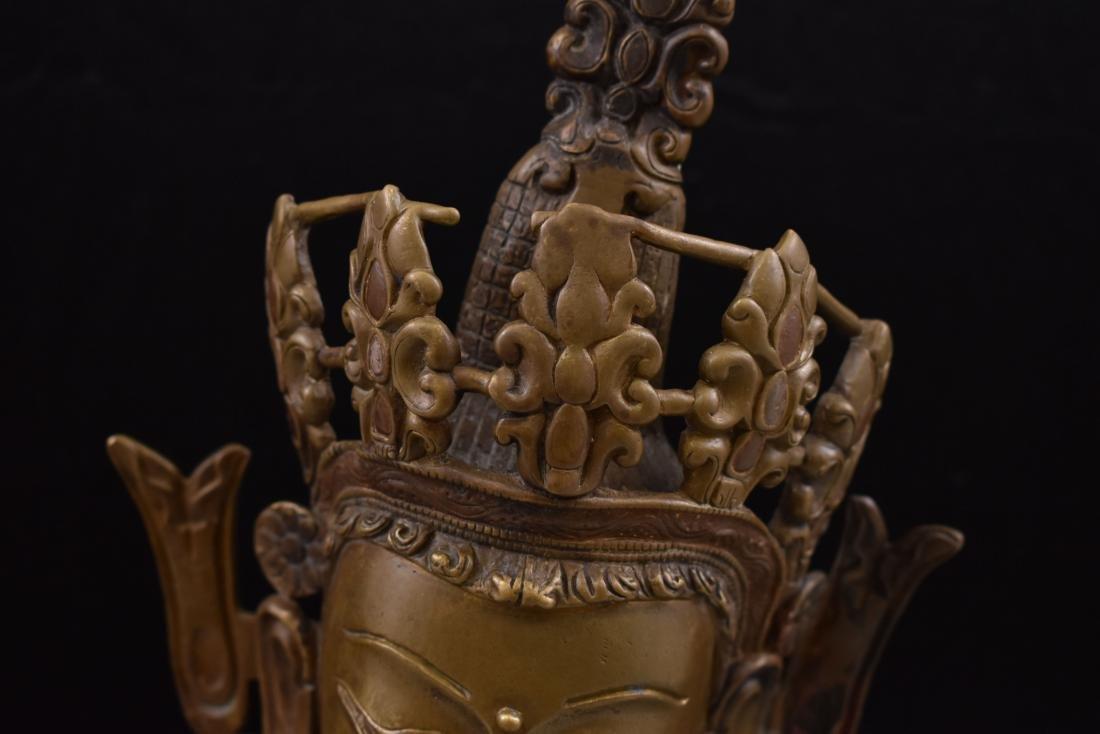 LARGE QING BRONZE BUDDHA FIGURE OF VAJRADHARA - 2
