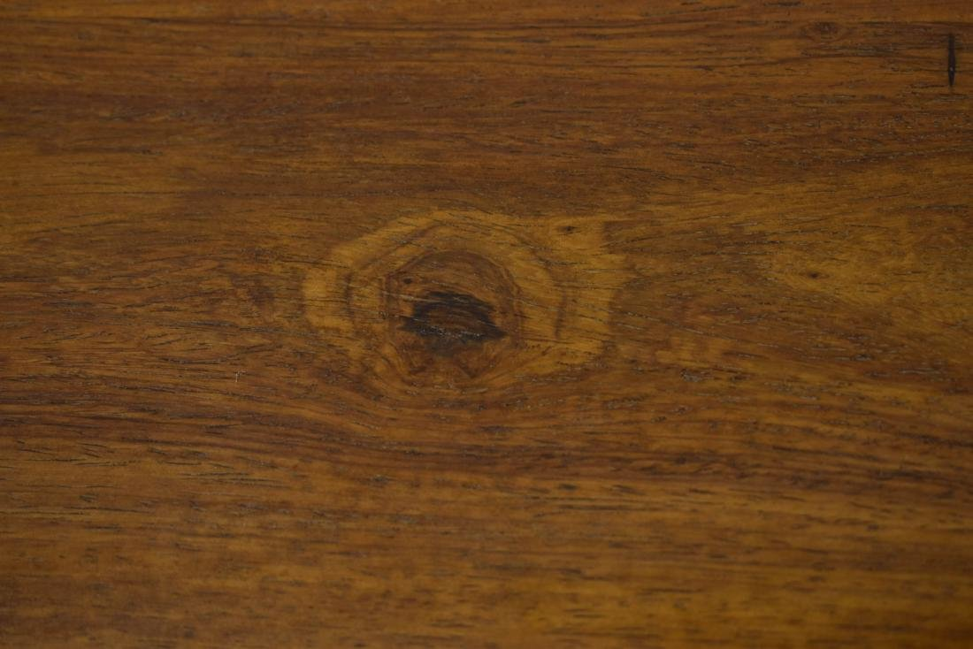 18TH C HUANGHUALI ALTAR TABLE WITH EVERTED ENDS - 6