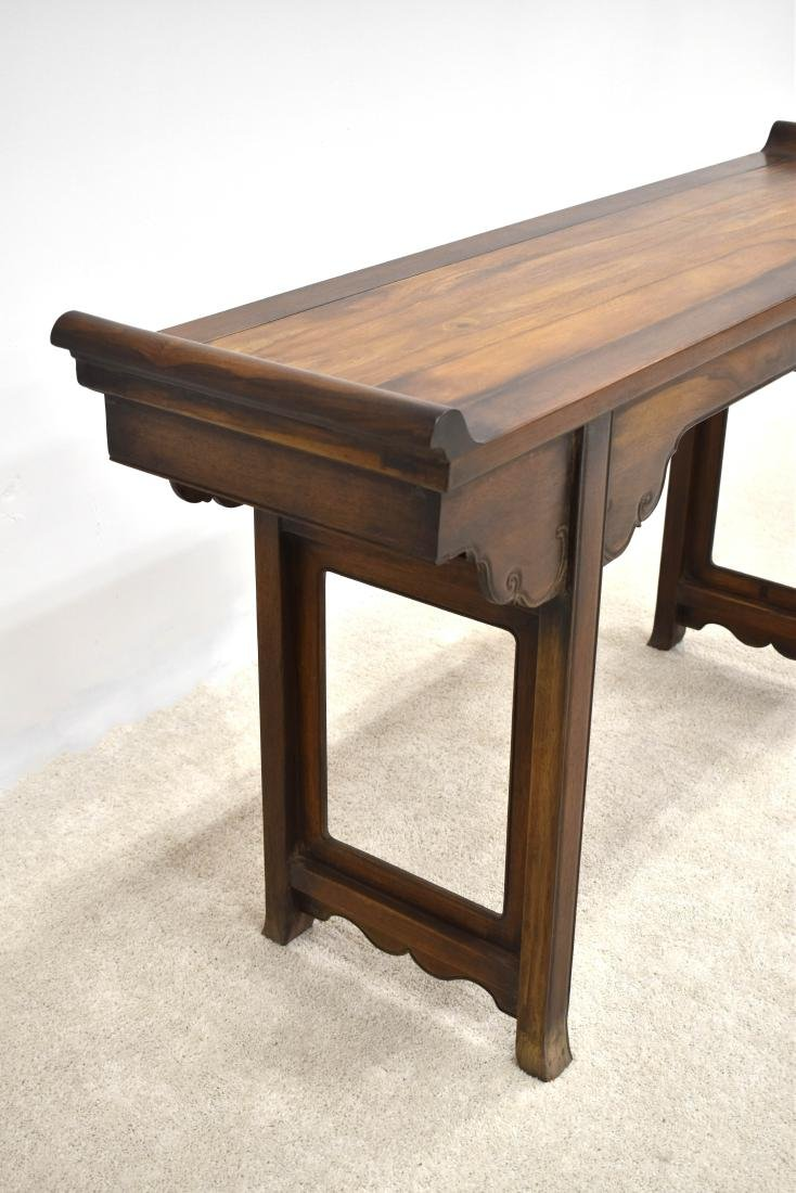 18TH C HUANGHUALI ALTAR TABLE WITH EVERTED ENDS - 8