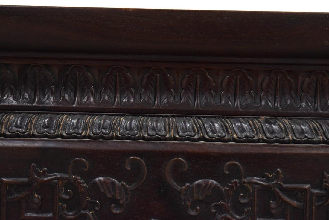 19TH C ZITAN WAITED PAINTING TABLE - 3